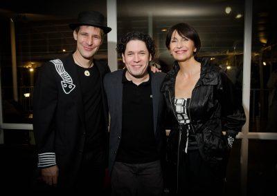 Gustavo Dudamel, Maria Volonte, Kevin Carrel Footer